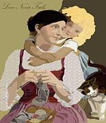Kate Farrant - Love Never Fails Vintage Poster Art
