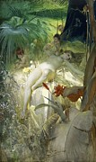 Fairies Framed Prints - Love Nymph Framed Print by Anders Zorn