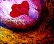 First Love Painting Prints - Love of the Lord Print by Amanda Dinan