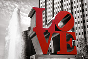 """love Park""  Framed Prints - Love Framed Print by Olivier Le Queinec"