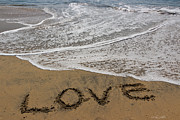 Love Letter Prints - Love On The Beach Print by Heidi Smith