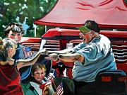 Heroes Paintings - Love Our Veterans by Stephanie Come-Ryker