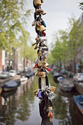 Good Luck Prints - Love Padlocks in Amsterdam Print by Artur Bogacki