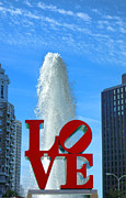 """love Park""  Framed Prints - LOVE Park Framed Print by Olivier Le Queinec"