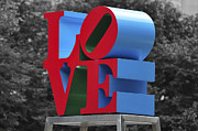 Love Sculpture Framed Prints - Love Park Philadelphia Framed Print by Terry DeLuco