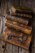 Old Objects Photo Metal Prints - Love reading Metal Print by Garry Gay
