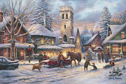 Kinkade Painting Posters - Love Runs Deep Poster by Chuck Pinson