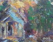 Impasto Oil Paintings - Love Shack by Kathy Stiber