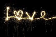 Firework Prints - Love Shines Brightly Print by Tim Gainey