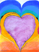 Heart Pastels Acrylic Prints - Love showed me the way Acrylic Print by Atousa Raissyan