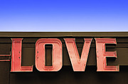 Human Relations Prints - Love Store Sign Print by Nathan Griffith