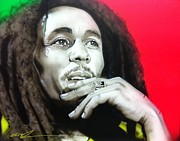 Bob Marley Portrait Prints - Love the Life You Live - Live the Life You Love Print by Christian Chapman Art