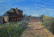 Cape Cod Paintings - Love the Old Cottage by Rita Brown
