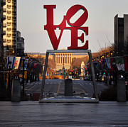 Benjamin Franklin Parkway Prints - Love the Parkway Print by Bill Cannon
