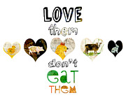 Humane Framed Prints - Love Them Dont Eat Them Framed Print by Sarah Kiser