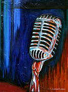 Lead Singer Paintings - Love to the Mic by KWC Art