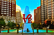 Philadelphia Park Framed Prints - Love Town Framed Print by Bill Cannon