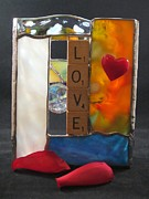 Featured Glass Art Prints - Love window-sill box Print by Karin Thue