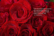Bouquet Of Roses Posters - Love Would Never Be a Promise of a Rose Garden Poster by James Bo Insogna