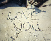 Lisa Russo Prints - Love You Print by Lisa Russo