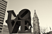 Love Park Digital Art Framed Prints - Love You Too Framed Print by Bill Cannon