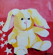 Suzanne Willis Metal Prints - Loveable Bunny Metal Print by Suzanne Willis