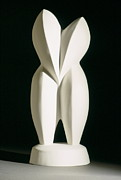 Wedding Sculptures - Lovebirds - plaster by Manuel Abascal