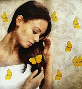 Loved Digital Art - Loved by butterflies by Gun Legler