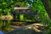 Wood Bridges Metal Prints - Lovejoy Covered Bridge 2 Metal Print by Mel Steinhauer