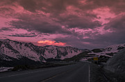 Colors Prints - Loveland Pass Sunset Print by Michael J Bauer