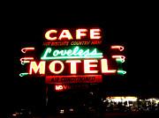 Loveless Cafe Print by Linda Woods