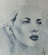 Grisaille Paintings - Lovely Blond by Natalie Sokolova