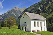Alm Framed Prints - Lovely church in beautiful mountain landscape Framed Print by Matthias Hauser