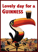 Beer Metal Prints - Lovely Day for a Guinness Metal Print by Nomad Art And  Design