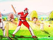 Lovely Day For Cricket. Print by Roejae Baptiste