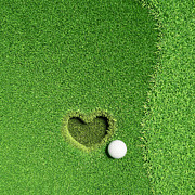 Flyers Art Posters - Lovely Golf - Fall in love  Poster by Khomkrit Chunsakul