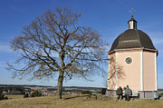 Lovely Little Chapel And A Tree Print by Matthias Hauser