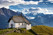 Point Of Interest Framed Prints - Lovely little chapel in the swiss alps Framed Print by Matthias Hauser