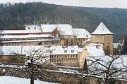 Schoenbuch Posters - Lovely medieval old town in winter Poster by Matthias Hauser