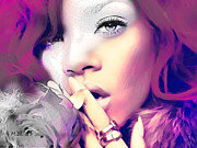 Rihanna Art - Lovely Rihanna by Marie-Diana Leveque