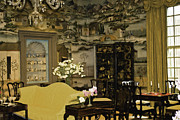 Wine Glass Mixed Media Posters - Lovely Room At Winterthur Gardens Poster by Trish Tritz