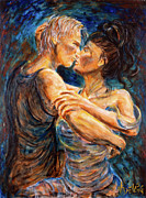 Tango Paintings - Lover in Shadow by Nik Helbig