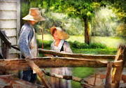 Rural Scenes Prints - Lover - The Courtship Print by Mike Savad