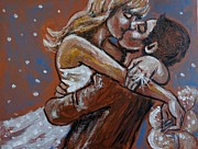 The Kiss Paintings - Lovers - I Do by Carmen Tyrrell