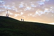 Lovers On Federal Hill At Dusk Print by Toni Martsoukos