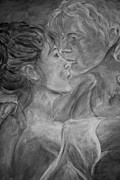 Lovers Paintings - Lovers Waltz - Gray by Nik Helbig