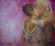 Lovers Paintings - Lovers Waltz by Nik Helbig