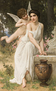 Historically Important Prints - Loves Whisper Print by Charles Lenoir