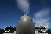Plane Nose Prints - Low Angle View Of A C-17 Globemaster Print by Stocktrek Images