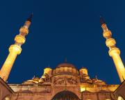 People Of The Night Prints - Low Angle View Of Mosque Of The Valide Print by Keith Levit